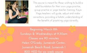 New 6-week Yoga Foundation Course in Jumeirah 1