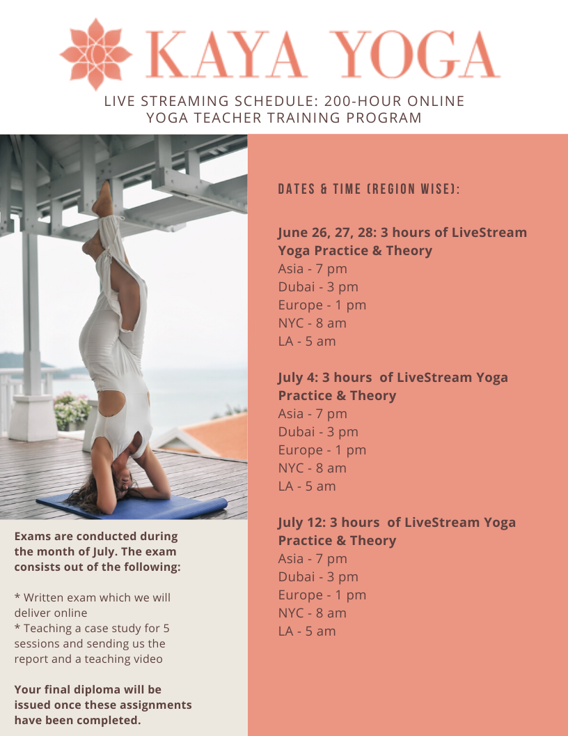 Online Yoga Teacher Training Livestream