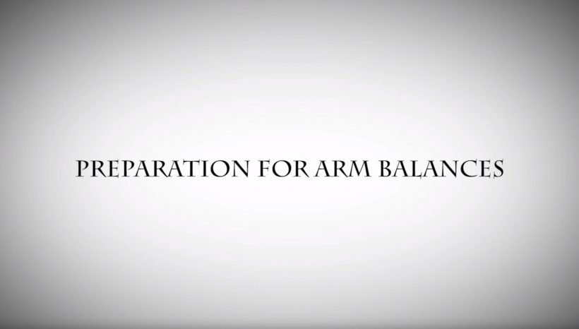 PREPARATION FOR ARM BALANCES